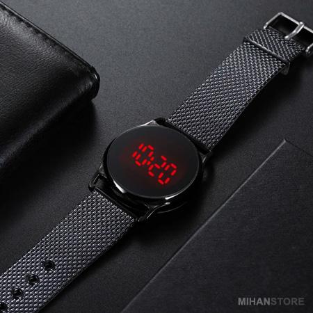 ساعت LED صفحه لمسي طرح Swarovski
