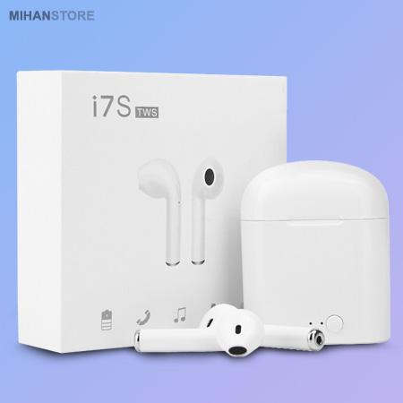 خرید ارزان بهترین هندزفری بلوتوثی طرح اپل ایرپاد Airpods i7S TWS