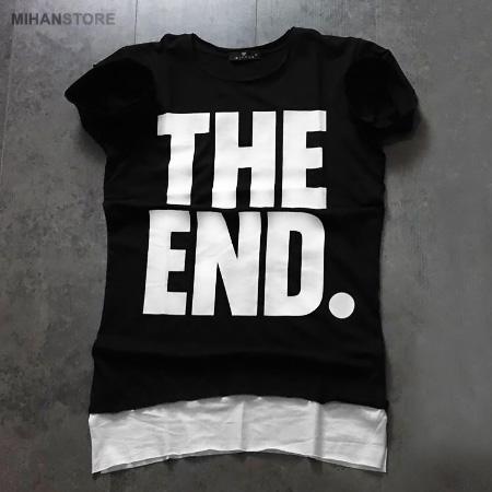 تی شرت مردانه پایان The End رنگ مشکی