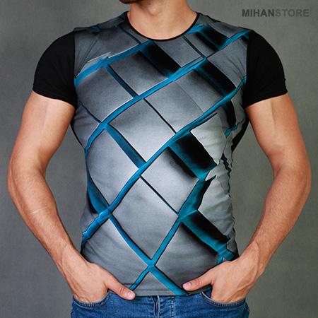 تی شرت پسرانه سه بعدی روبیک Rubik 2019