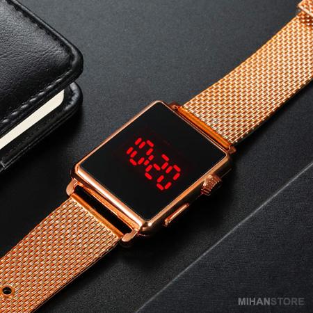 عکس محصول ساعت LED صفحه لمسي طرح Apple