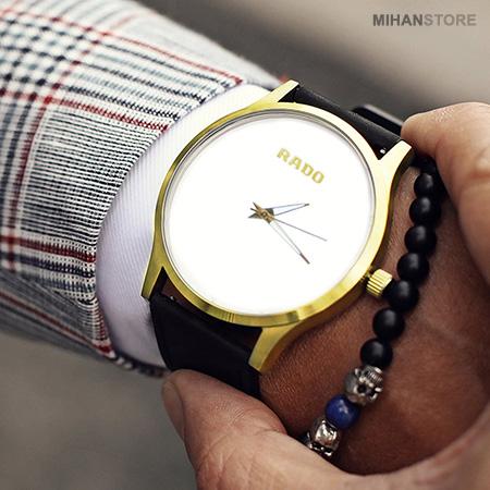 حراج ساعت مچی مردانه و زنانه رادو Rado مدل سیمپل Simple بند مشکی