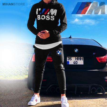 خرید پستی ست سوئیشرت و شلوار BMW بی ام و 2019 رنگ مشکی