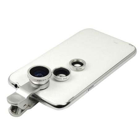 پکیج لنز عکاسی حرفه ای موبایل 3 کاره شامل لنز های ماکرو واید و فیش آی