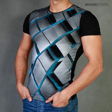 خرید تی شرت مردانه سه بعدی روبیک Rubik