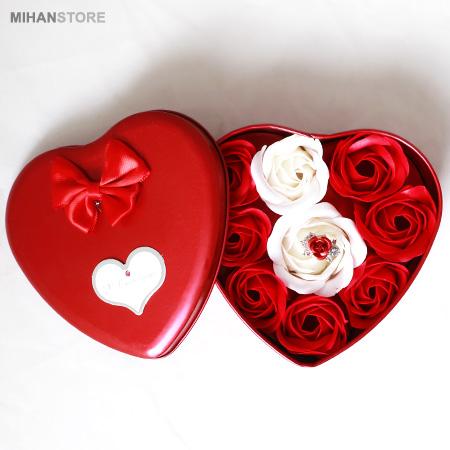 عکس محصول پکیج کادویی انگشتر و گل عطری طرح Love