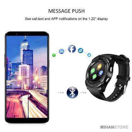 ساعت مچی هوشمند Smart Watch V8 2020