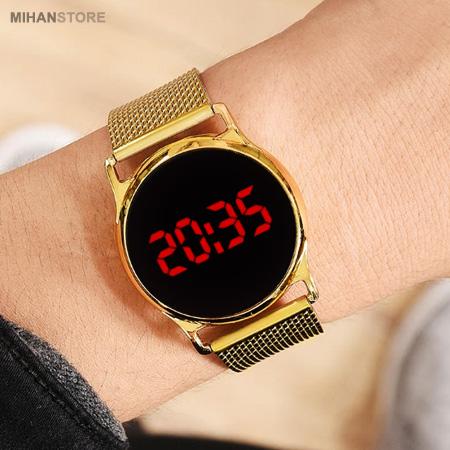 ساعت LED صفحه لمسی طرح Swarovski